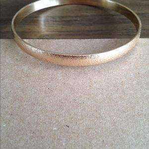 "Jewelry - 1/4"" smooth matte gold bangle bracelet"